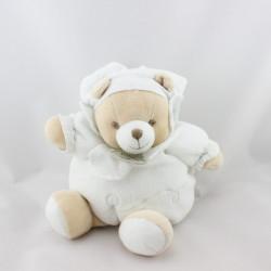 Doudou et compagnie ours boule blanc mouchoir