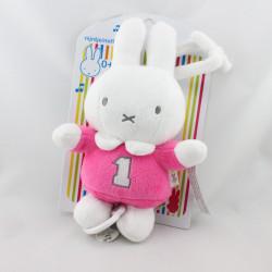 Doudou musical lapin blanc rose MIFFY NIJNTJE