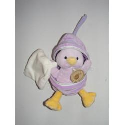 Doudou poussin rose dans sa coquille avec mouchoir BABY NAT