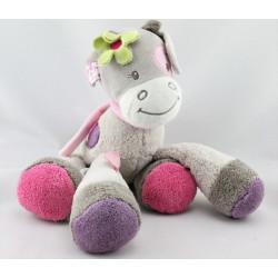 Doudou musical girafe vache grise rose violet Alyzée NATTOU