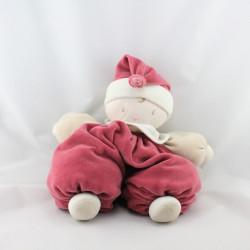 Doudou bébé lutin blanc rose bordeaux grenadine Corolle