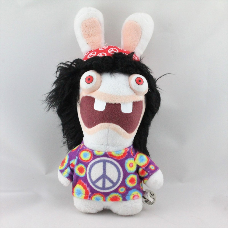 Doudou lapin crétin Babacool Peace and Love UBISOFT