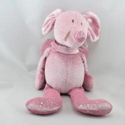 Doudou souris rose pois brillants les petites fées JACADI