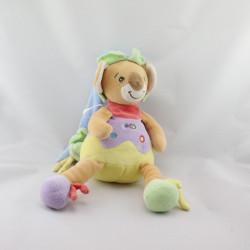 Doudou koala Coco beige jaune mauve rouge vert TAKINOU