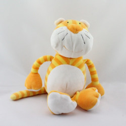 Doudou tigre chat jaune orange rayé BABYSUN NURSERY