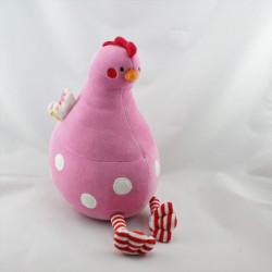 DDoudou oiseau poule rose rouge NATALYS