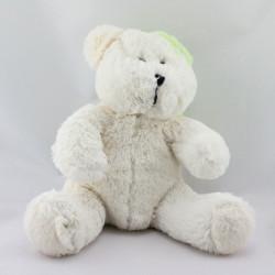 Doudou ours blanc vert ALPHANOVA BEBE