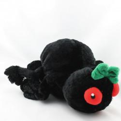 Doudou marionnette Araignée noir AU SYCOMORE