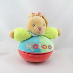Doudou musical lapin boule bleu vert rouge POP KALOO