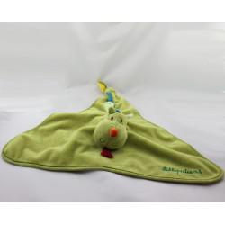 Doudou plat dragon vert Walter LILLIPUTIENS