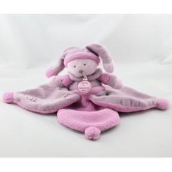 Doudou et compagnie plat ours Douceur Macaron rose
