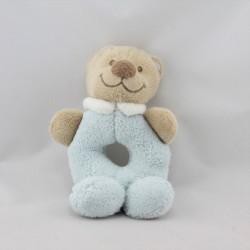 Doudou hochet ours beige bleu NATTOU
