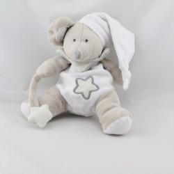Doudou luminescent souris beige blanche étoile BABY NAT