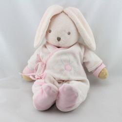 Doudou lapin pyjama rose fleur Liliblue KALOO