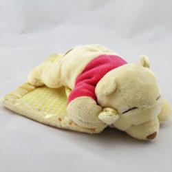 Doudou Winnie l'Ourson couché avec mouchoir Disney