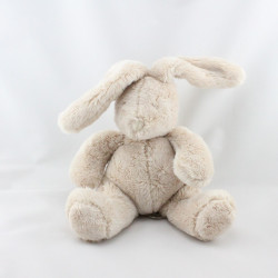 Doudou musical lapin beige Plume et Polochon MOULIN ROTY
