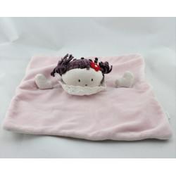 Doudou plat poupée rose JACADI