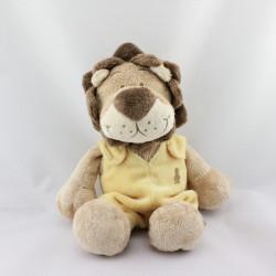 Doudou lion beige marron jaune BABOUM NOUKIE'S
