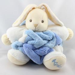 Doudou lapin plume blanc bleu KALOO