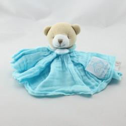 Doudou et compagnie ours plat bleu lange Créateur de Rêves
