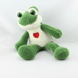 Doudou grenouille verte coeur rouge CP INTERNATIONAL