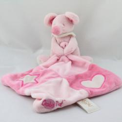 Doudou souris rose mouchoir coeur étoile Baby nat