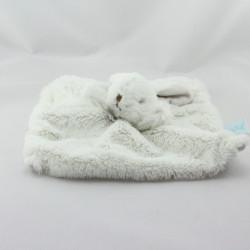 Doudou plat Lapin blanc beige Baby Nat