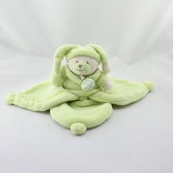 Doudou et compagnie plat ours Douceur Macaron vert pistache