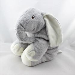 Doudou éléphant gris blanc HAPPY HORSE
