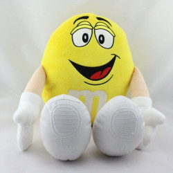 Peluche publicitaire bonbon jaune M&M'S
