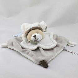 Doudou et compagnie plat ours blanc gris marron Graines de doudou