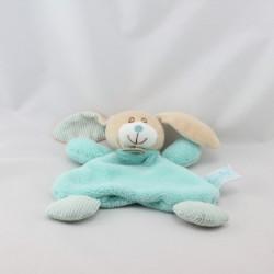 Doudou plat lapin beige bleu rayé BABY NAT
