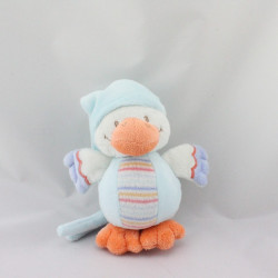 Doudou musical canard blanc bleu orange NATTOU