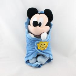 Doudou Mickey bleu couverture mouchoir soleil DISNEYLAND