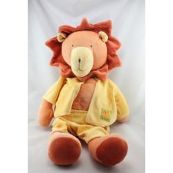 Grand Doudou eveil lion orange jaune les Loustics MOULIN ROTY