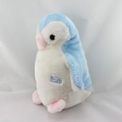 Peluche pingouin bleu blanc rose BOULGOM