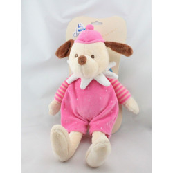Doudou plat chien rose mauve J'aime Maman CENTRAL VET