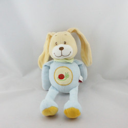 Doudou chien lapin bleu ciel escargot brodé TEX