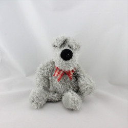 Doudou chien gris noeud rouge JELLYCAT