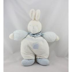 Doudou Lapin blanc bleu vichy Moulin Roty