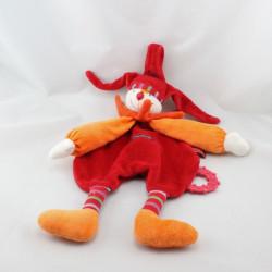 Doudou plat Capucin Dragobert rouge orange MOULIN ROTY