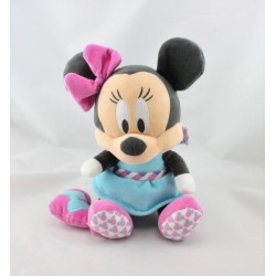 Peluche musical Minnie bleu rose DISNEY NICOTOY