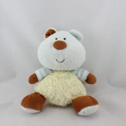 Doudou ours jaune bleu marron LUMINOU JEMINI