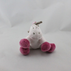 Doudou poney cheval rose étoile Jack NOUKIE'S 12 cm