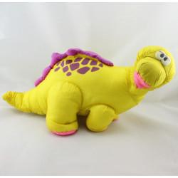 Ancienne peluche dinosaure jaune rose FISHER PRICE 1992 Vintage rare