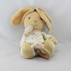 Doudou musical lapin beige Zig Collection Pure KALOO