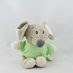 Doudou musical souris beige verte TIAMO COLLECTION