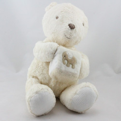 Doudou musical ours blanc écru cube MARKS & SPENCER