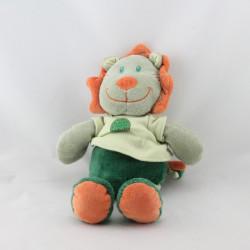 Doudou lion vert orange TOUT SIMPLEMENT CASINO
