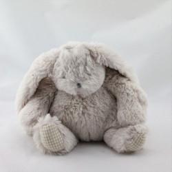 Doudou lapin beige vichy tout doux EURODIF
